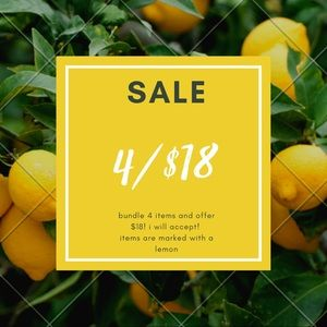 CLEARANCE SALE!! 4/$18🍋🍋🍋